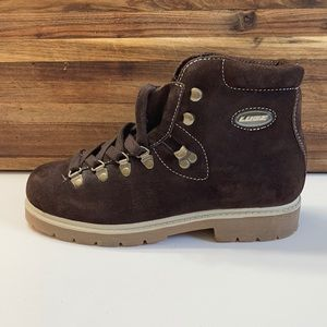 Lugz Brown Leather Lace Up Fall Winter Boots